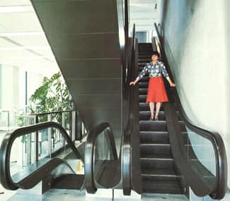 1977 - Escalator design