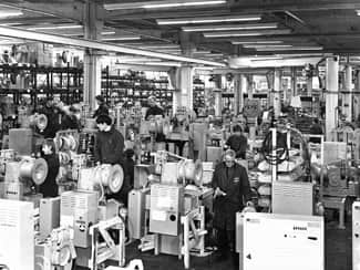 1975 - Assembly line Hyvinkaa factory